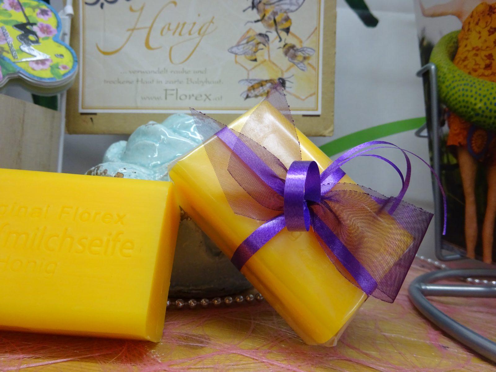 Honigseife mit Schafmilch